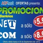 Oferta de Dominios hasta el 30 de setiembre de 2012
