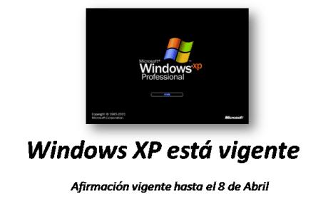 Windows XP está vigente