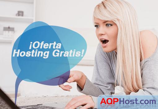 oferta de hosting gratis AQPhost 2014