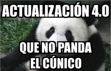 meme actualización panda 4.0