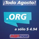 Promoción de dominios .ORG todo Agosto