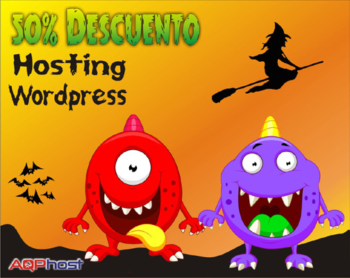 hosting wordpress promo halloween