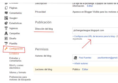 configuracion blogger