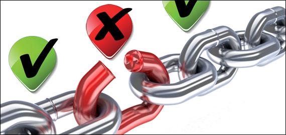 eliminar enlaces malos