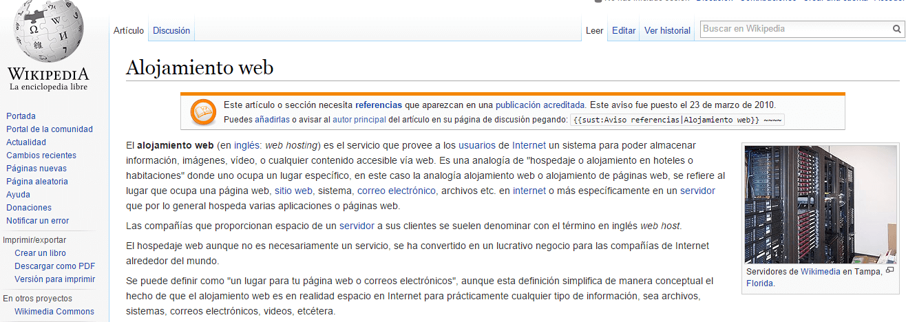 diseño web wikipedia