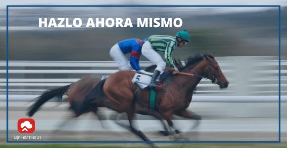 caballos correindo en competencia